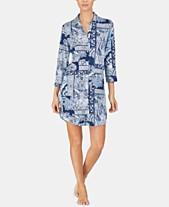 7605ec73ccc7 Lauren Ralph Lauren Paisley-Print 3 4-Sleeve Sleepshirt