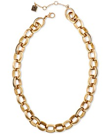 """Gold-Tone Large Link Collar Necklace, 16"""" + 2"""" extender"""