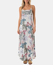Juniors' Koinne Floral-Print Maxi Dress