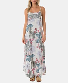O'Neill Juniors' Koinne Floral-Print Maxi Dress