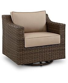 Camden Aluminum Outdoor Swivel Chair, Created for Macy's