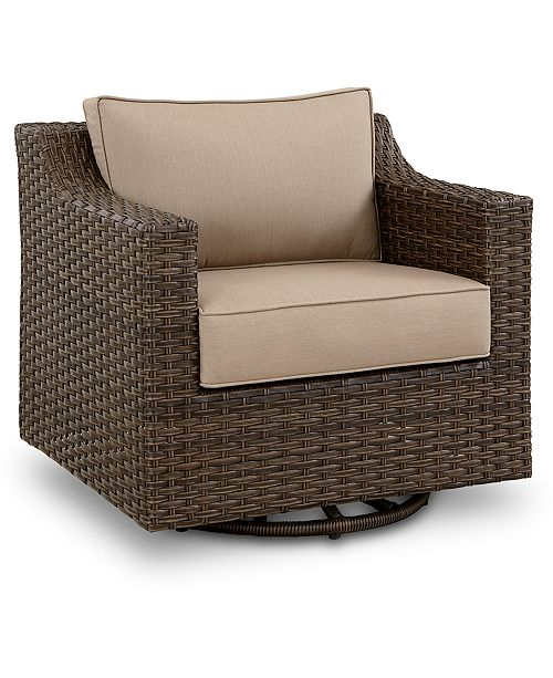 Camden Wicker Outdoor Swivel Chair