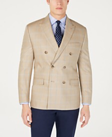 Lauren Ralph Lauren Men's Classic-Fit UltraFlex Stretch Windowpane Double Breasted Sport Coat