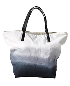Michael Aram Dip Dye Ombre 100% Cotton Beach Tote