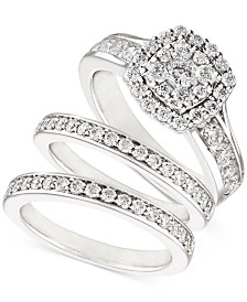 Diamond (2 ct. t.w.) Three-Piece Ring