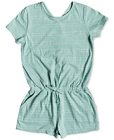 Big Girls Striped Romper