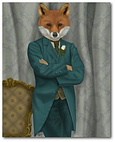 "Fox Victorian Gentleman Portrait Gallery-Wrapped Canvas Wall Art - 16"" x 20"""