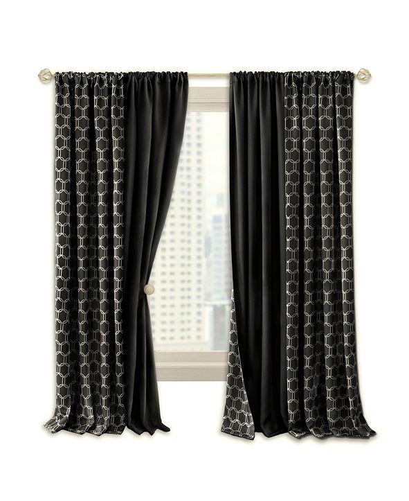 Achim Prelude Reversible Blackout Rod Pocket Curtain Panel, 50x84