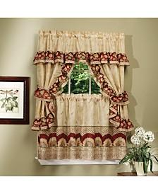 Sunflower Cottage Window Curtain Set, 57x24