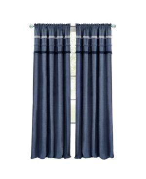 Image of Achim BJPN63BL06 52 x 63 in. Blue Jean Rod Pocket Window Curtain Panel Blue