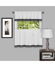 Camden 58x36 Window Curtain Tier Pair, Black