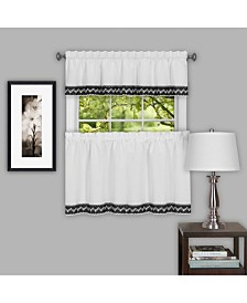 Camden 58x36 Window Curtain Tier Pair, Black