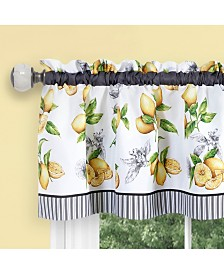 Lemon Drop Tier and Valance Window Curtain Set, 58x24