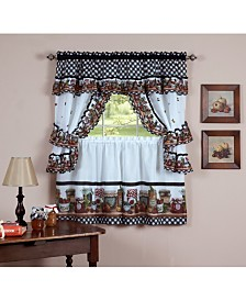 Mason Jars Window Curtain Set, 57x24