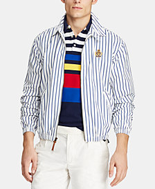 Polo Ralph Lauren Men's Bayport Striped Windbreaker, Created for Macy's