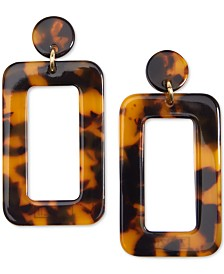 Zenzii Gold-Tone Resin Cutout Drop Earrings