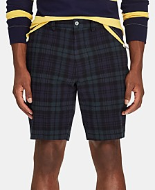 "Polo Ralph Lauren Men's 9.25"" Stretch Classic-Fit Black Watch Tartan Short"