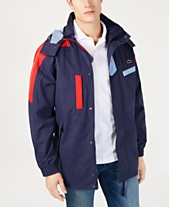 8f0cc48afaba Lacoste Men s Colorblocked Yachting Parka with Removable Hood