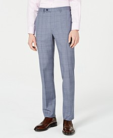 Men's X-Fit Slim-Fit Natural Stretch Blue Plaid Suit Pants
