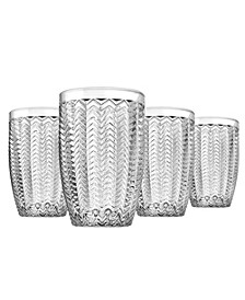Carson Modern Vintage Highball Glasses, Set of Four