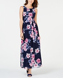 Jessica Howard Petite Floral-Print Maxi Dress