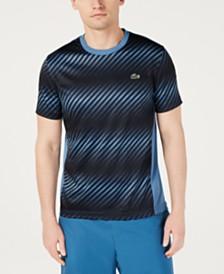 Lacoste Men's Ultra Dry Moisture-Wicking Colorblocked Ombré-Stripe Piqué T-Shirt