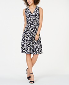 Jessica Howard Petite Printed A-line Dress