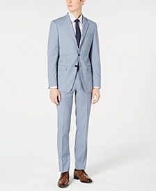 Men's X-Fit Slim-Fit Light Blue Sharkskin Suit Separates