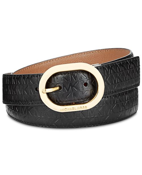 Michael Kors Reversible Embossed Logo Belt