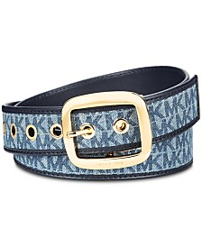 MICHAEL Michael Kors Denim Reversible Belt, Created for Macy's