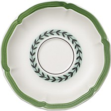 French Garden Green Lines Tea Cup Saucer