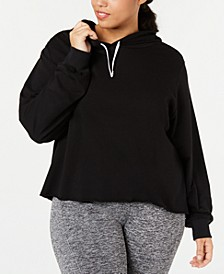Plus Size Dance Cropped Hoodie