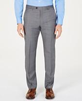 5faf7701ce6 Lauren Ralph Lauren Men s Classic-Fit UltraFlex Stretch Gray Blue  Windowpane Suit Pants