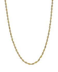 """Open Link 18"""" Chain Necklace (1.9mm) in 18k Gold"""