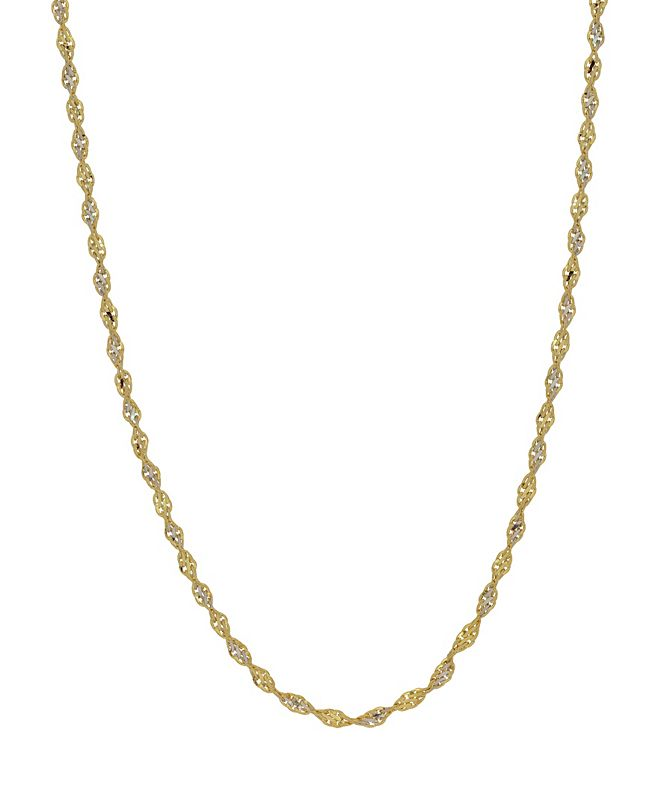 "Macy's Open Link 18"" Chain Necklace (1.9mm) in 18k Gold"