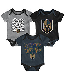 Outerstuff Vegas Golden Knights Five On Three Creeper 3 Pc Set, Infants (0-9 Months)