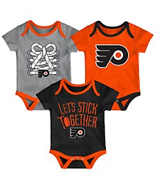 Outerstuff Philadelphia Flyers Five On Three Creeper 3 Pc Set, Infants (0-9 Months)