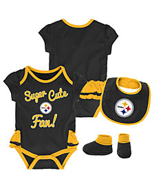Outerstuff Pittsburgh Steelers Trifecta Set, Infants (0-9 Months)