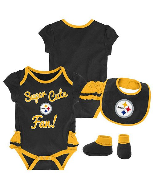 722477ff Outerstuff Pittsburgh Steelers Trifecta Set, Infants (0-9 Months ...