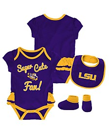 Outerstuff LSU Tigers Trifecta Bib Set, Infants (0-9 Months)