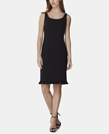 Tahari ASL Ruffled-Hem Dress