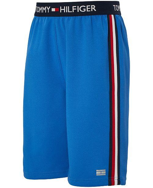 Tommy Hilfiger Little Boys Mesh Logo-Stripe Basketball Shorts