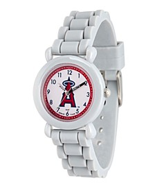 Gametime MLB Los Angeles Angels Kids' Gray Plastic Time Teacher Watch