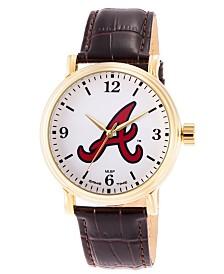Gametime MLB Atlanta Braves Men's Shiny Gold Vintage Alloy Watch