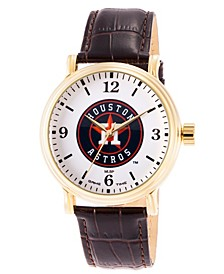 Gametime MLB Houston Astros Men's Shiny Gold Vintage Alloy Watch