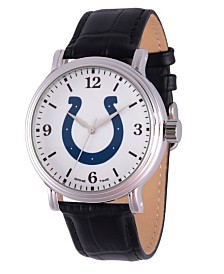 Gametime NFL Indianapolis Colts Men's Shiny Silver Vintage Alloy Watch