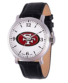Gametime NFL San Francisco 49ers Men's Shiny Silver Vintage Alloy Watch