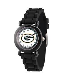 Gametime NFL Green Bay Packers Kids' Black Plastic Time Teacher Watch