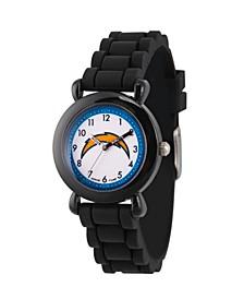 Gametime NFL Los Angeles Chargers Kids' Black Plastic Time Teacher Watch