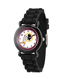 Gametime NFL Washington Redskins Kids' Black Plastic Time Teacher Watch